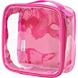 Clear TSA Approved 3-1-1 Travel Toiletry Bag / Transparent See Through Organizer