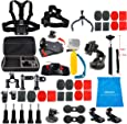 Lifelimit Accessories Starter Kit for Gopro Hero 6/fusion/5/Session/4/3/2/HD/HERO+ (Wi-Fi Enabled) Silver Cameras SJ4000 /5000/6000 /AKASO/APEMAN/ DBPOWER/And Sony Sports DV and More