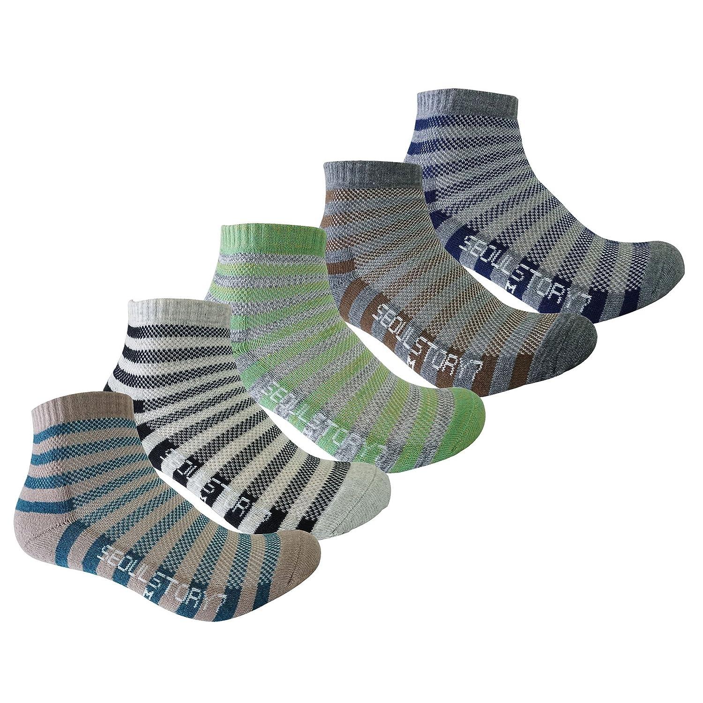 SEOULSTORY7 5Pack Mens Light Cushion Mini Hiking//Performance//Trail Socks