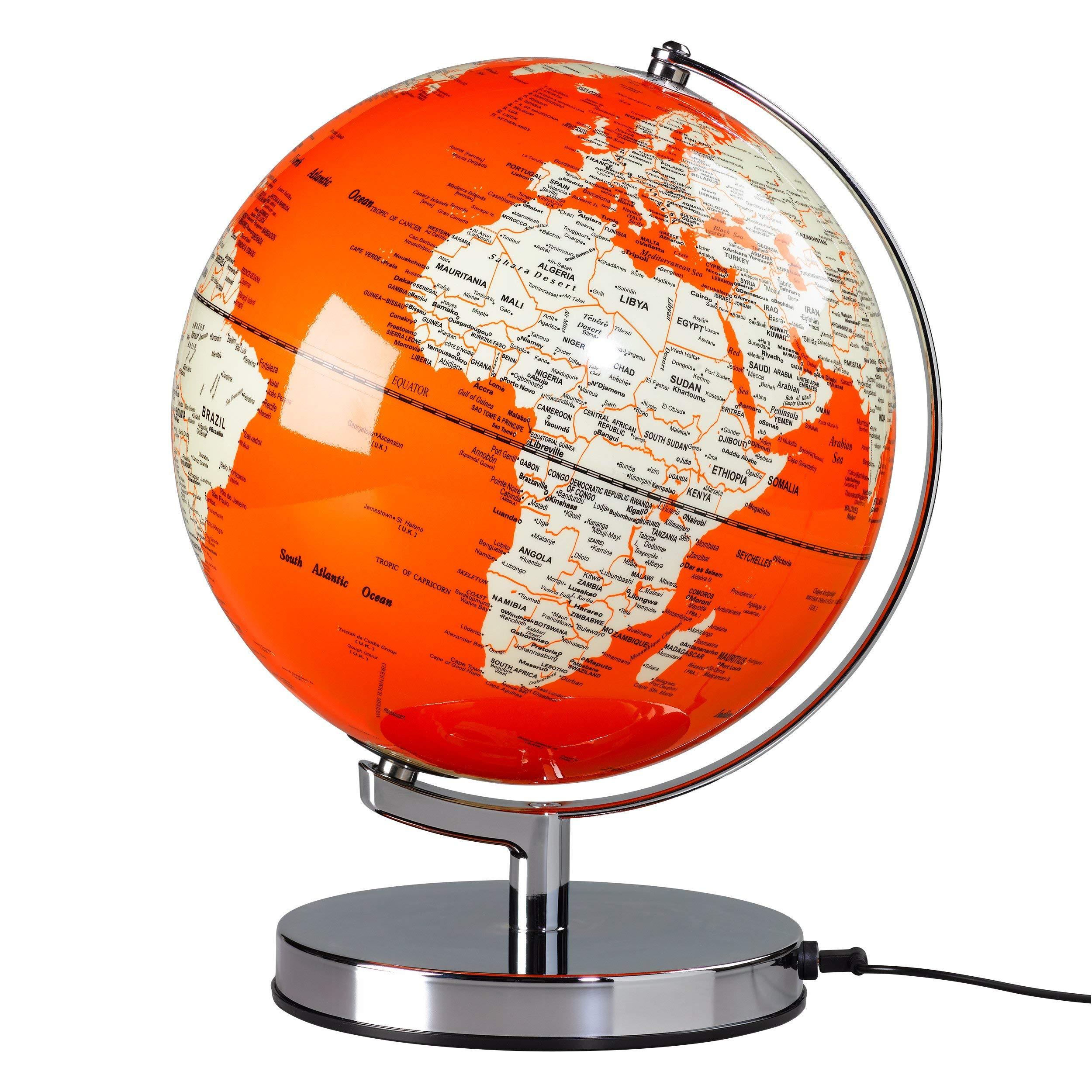 Wildwood Wild Wood Globe Light Goldfish Orange 10'',