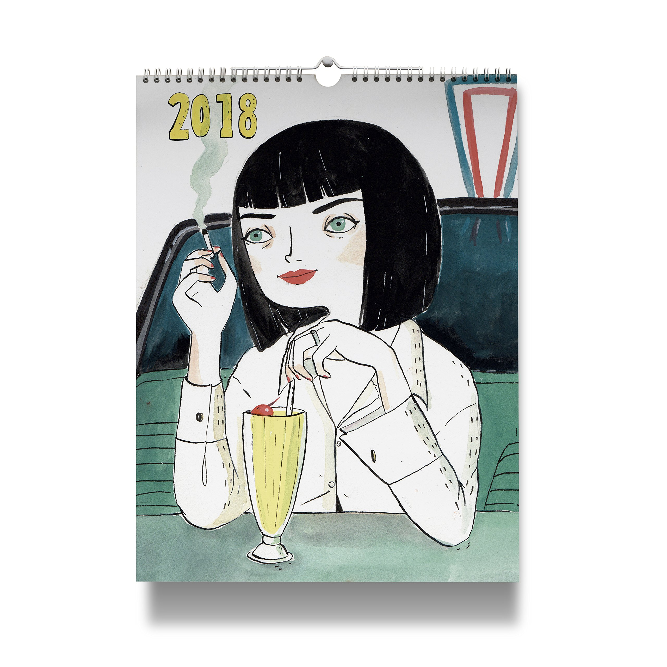 Calendario de pared 2018 María Hesse: 8432715094692: Amazon ...