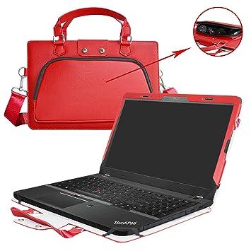 ThinkPad E560 Funda,2 in 1 Diseñado Especialmente La Funda Protectora de Cuero de PU