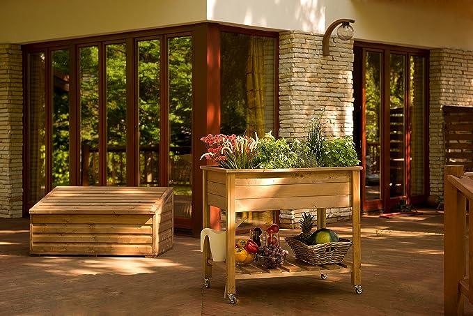 Jardín Verde - Huerto urbano Mesa de cultivo de madera (abeto ...