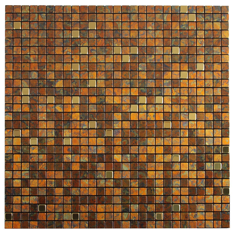 Amazon.de: Royllent Moderne Metall Aluminium Mosaik Gebürstet Typ Peel U0026  Stick Fliesen Küche