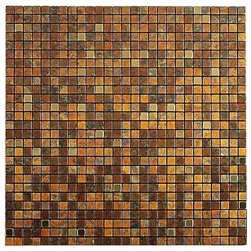 Royllent Moderne Metall Aluminium Mosaik Gebürstet Typ Peel U0026 Stick Fliesen  Küche Dekoration Backsplash Akzent Wand