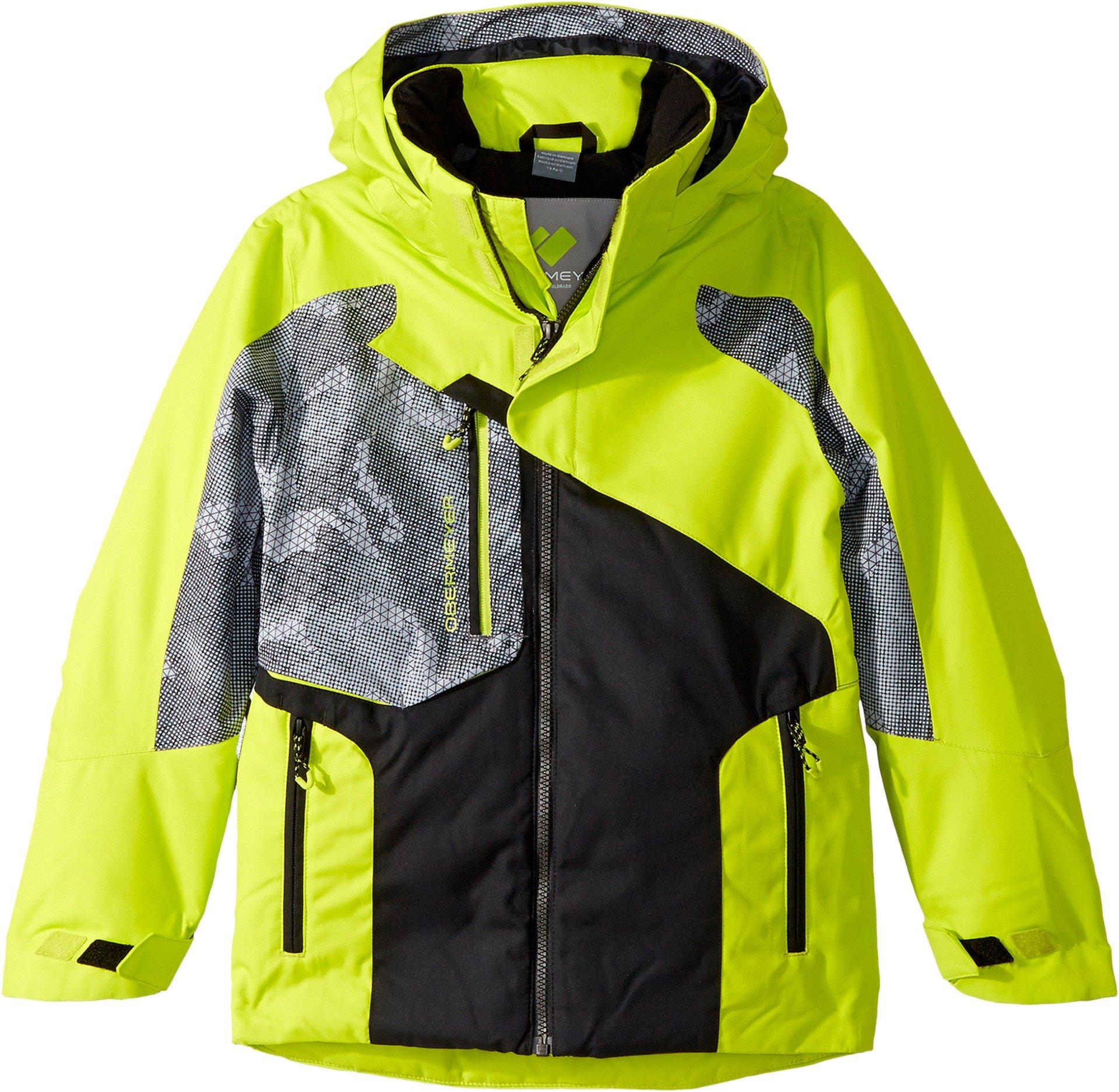 Obermeyer Kids  Boy's Outland Jacket (Little Kids/Big Kids) Green Flash Large