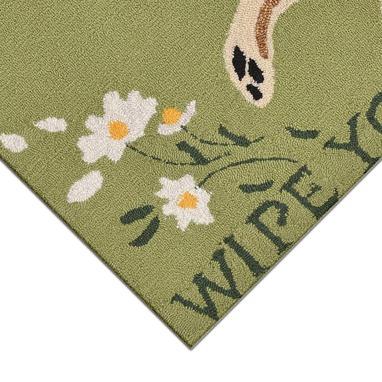 Liora Manne FTP34152206 Frontporch Front Porch Dog Wipe Your Paws Green Indoor//Outdoor Rug 26 x 4 Brown and Grren