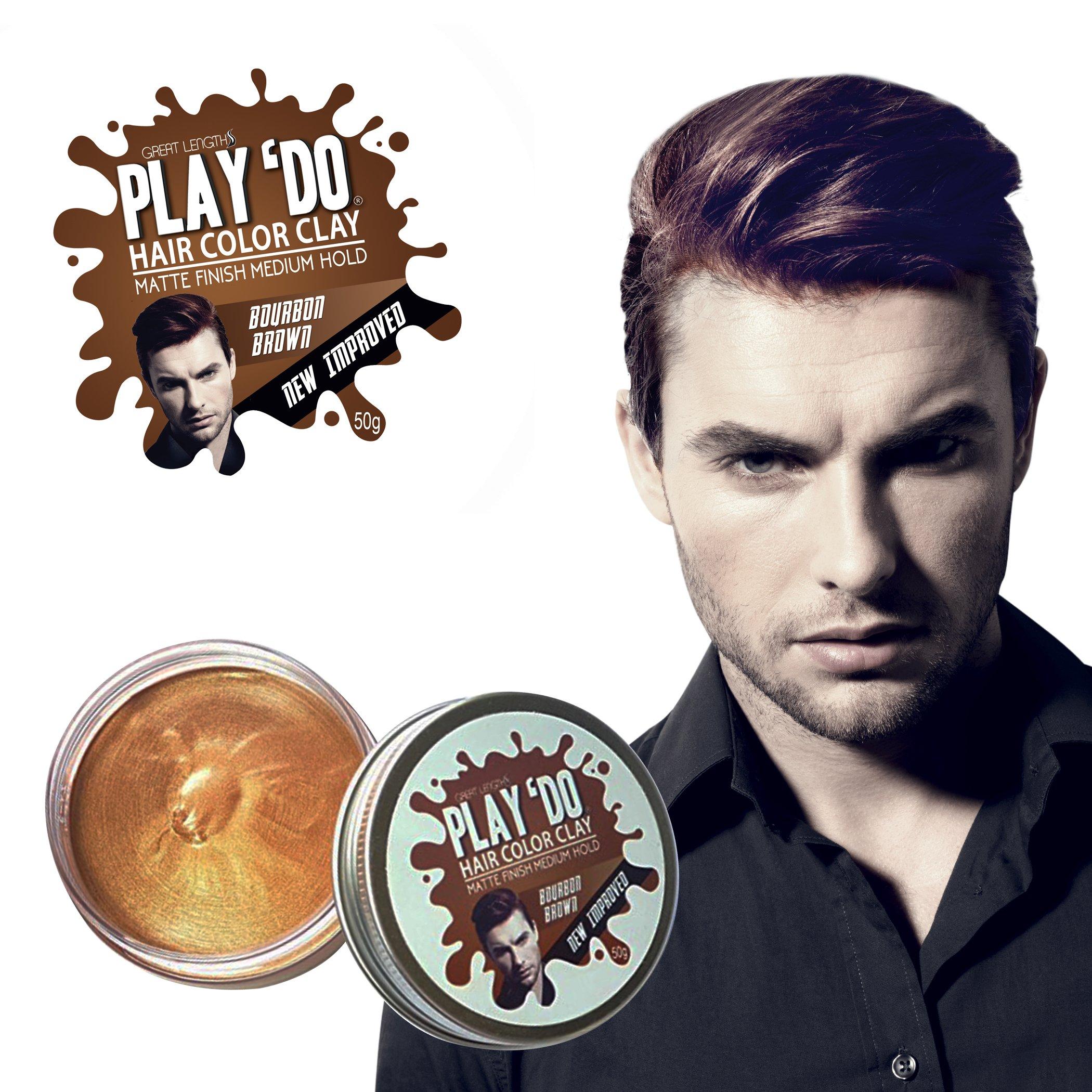 Play 'Do Temporary Hair Color, Hair Wax, Hair Clay, Mens Grooming, Brown hair dye(1.8 ounces) by Great Lengths