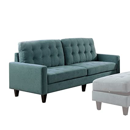Amazon.com: Acme Furniture 50245 Nate Sofa, Teal: Kitchen ...