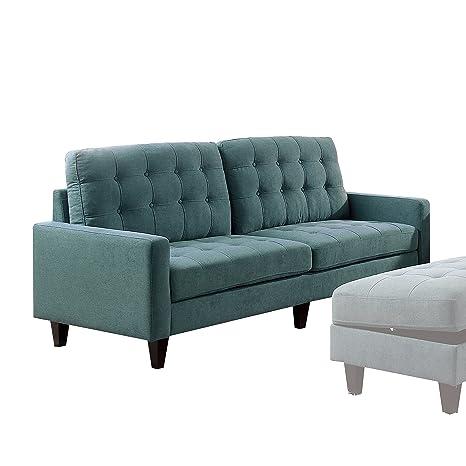 Amazon.com: Acme muebles 50245 Nate sofá, verde azulado ...