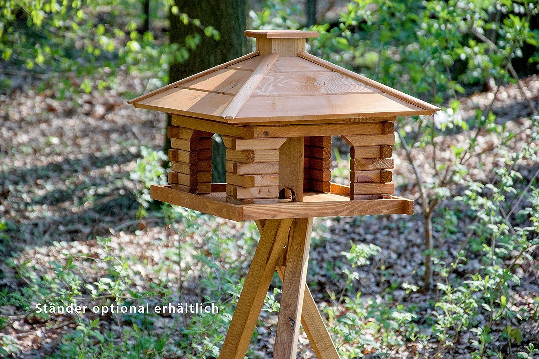 dobar 45300e Rustikales Vogelfutterhaus im Blockhaus-Stil mit ...