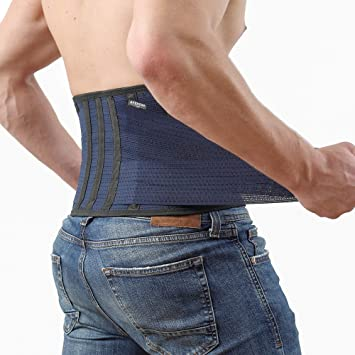 1471b807e3c Back Support Lower Back Brace Provides Back Pain Relief - Breathable Lumbar  Support Belt for Men