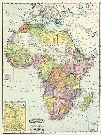Amazon Com Historic Map Africa Suez Canal 1897 World Atlas
