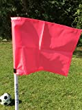 Set of four collapsible corner flags, with carry bag
