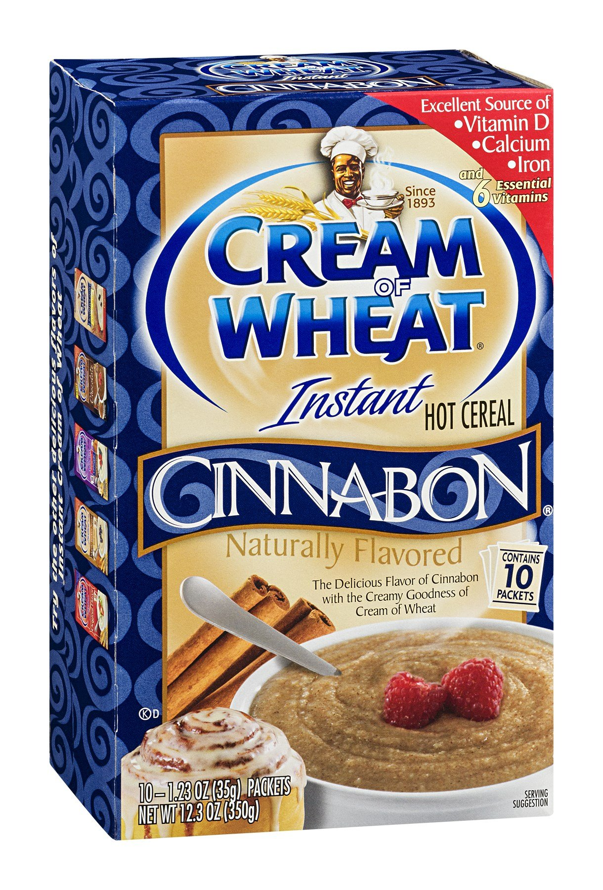 Cream of Wheat Instant Hot Cereal Cinnabon 12.5OZ (Pack of 24) by Cream of Wheat (Image #1)