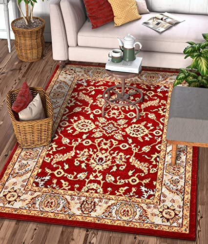 Well Woven Sydney Vintage Carleton Red Traditional French Country Oriental Area Rug 7'10″ x 10'6″