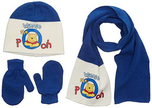 Disney Winnie The Pooh - bonnet et echarpe et echarpe - Bébé garçon - Bleu ( d32e5e07a56