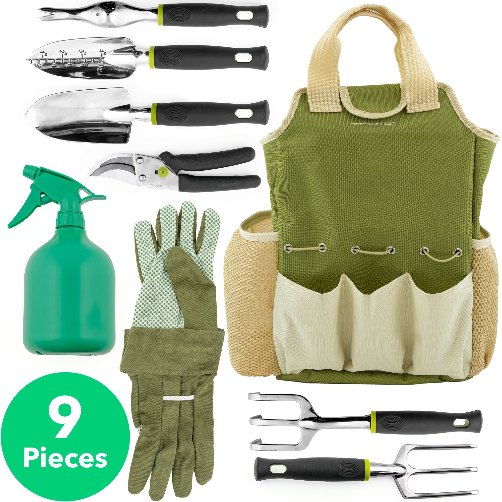 9 Piece Garden Tools Set Handy Gardening Kit With Gloves