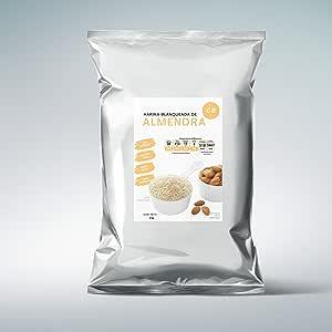 Harina de Almendra blanqueada seleccionada calidad premium sin azúcar sin gluten para hornear macarons comestible 1 kg