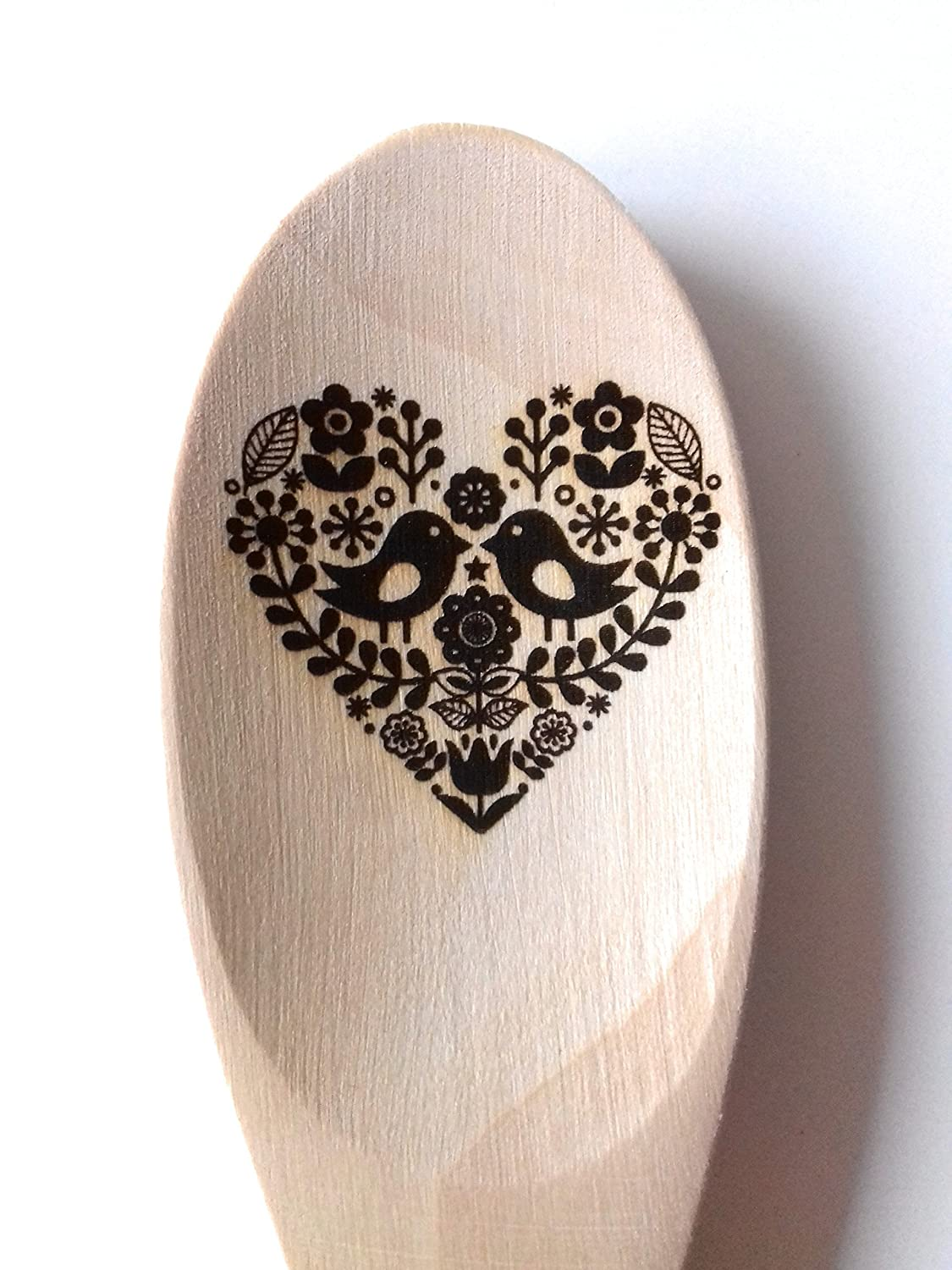 Folk Design Engraved Wooden Spoon