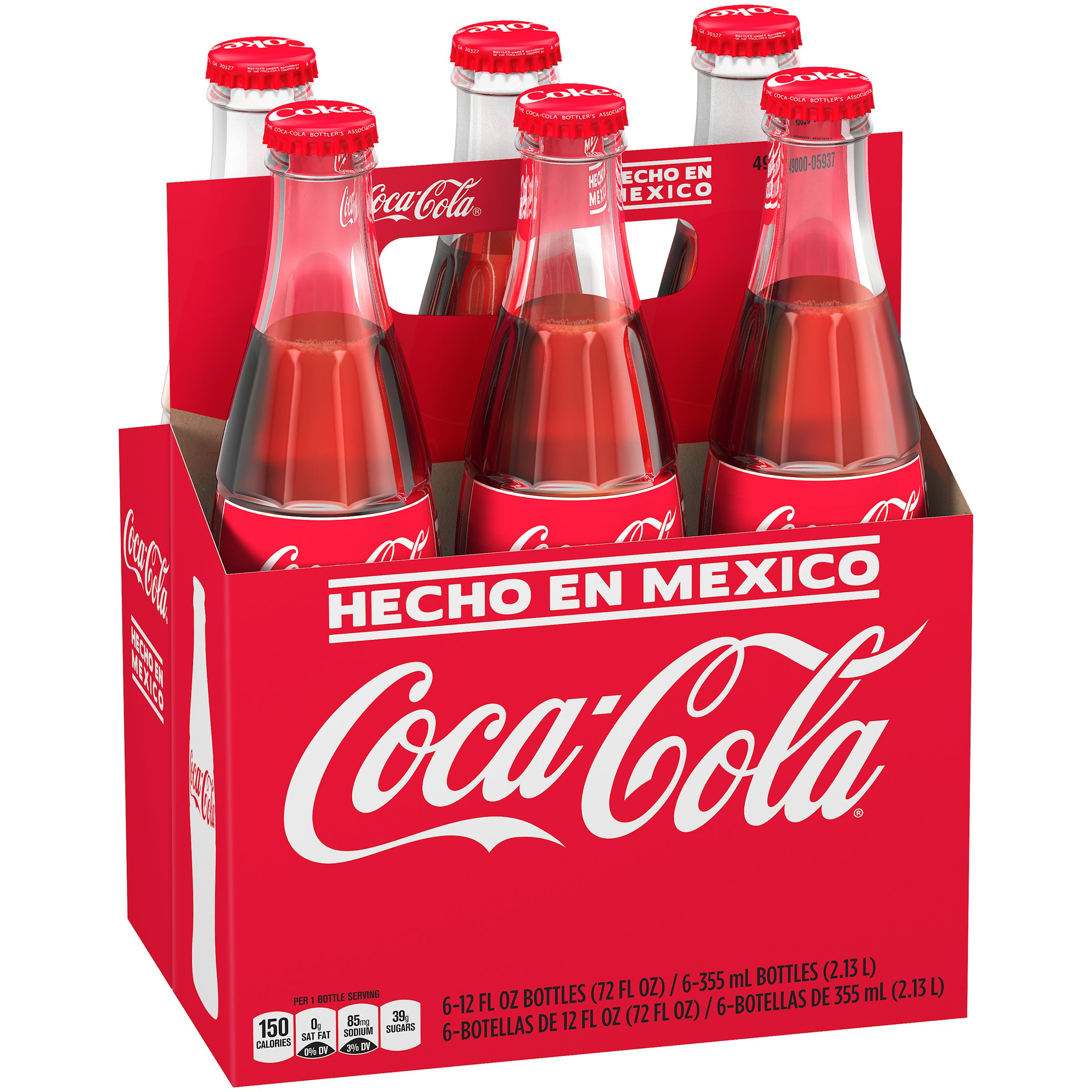 Mexican Coke Glass Bottle, 12 fl oz, 6 Pack