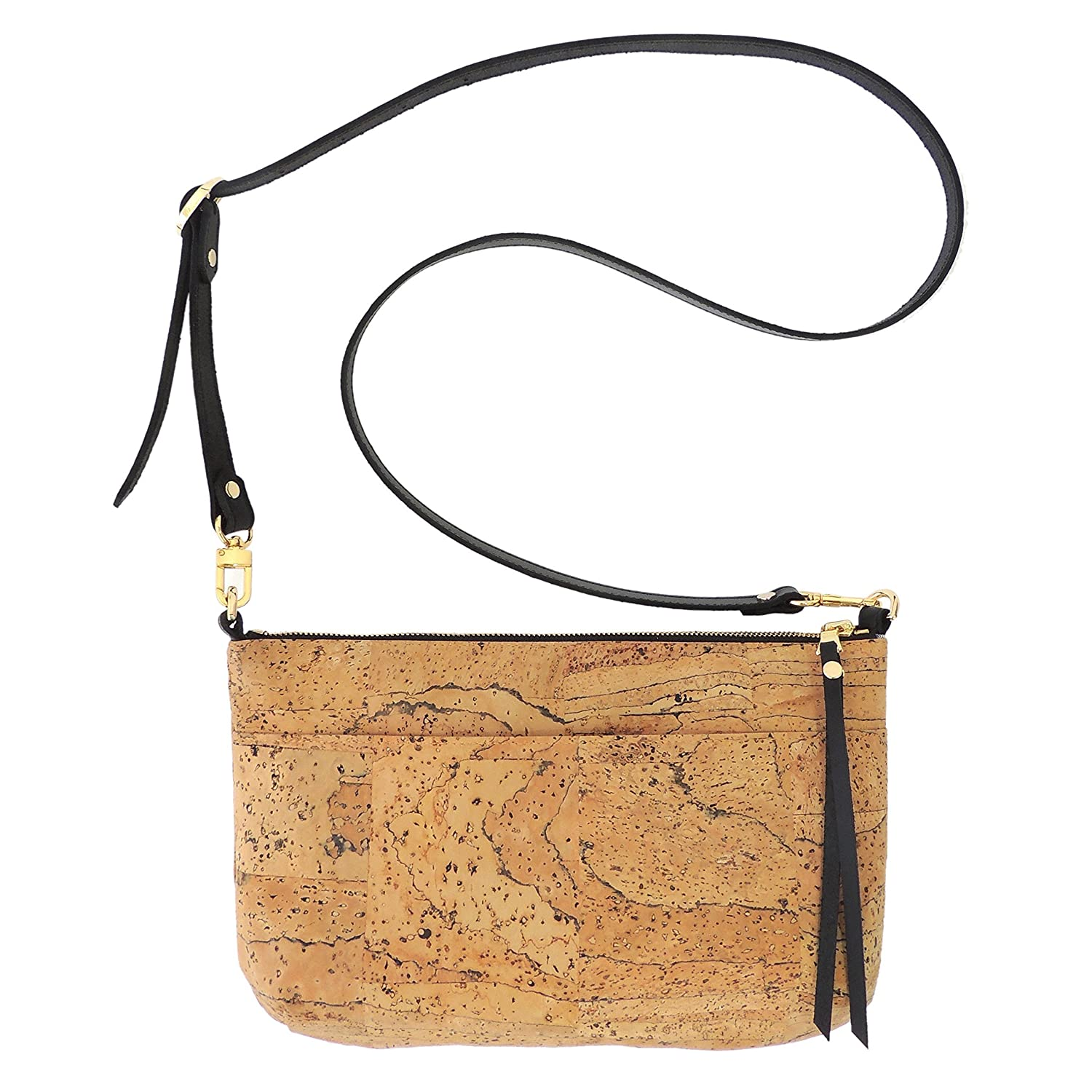 Marbled Cork Crossbody Purse with Detachable Strap by Spicer Bags