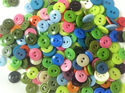 Blue//Red Resin Round Buttons 13mm Sew On 4 Holes BULK 4 Packs x 5 Pcs Sewing DIY