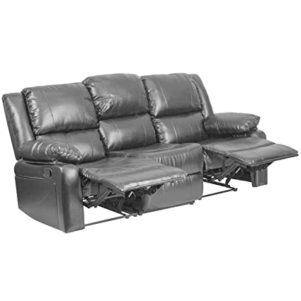 Tremendous Amazon Com Modern Leather Sofa With Two Built In Recliners Alphanode Cool Chair Designs And Ideas Alphanodeonline