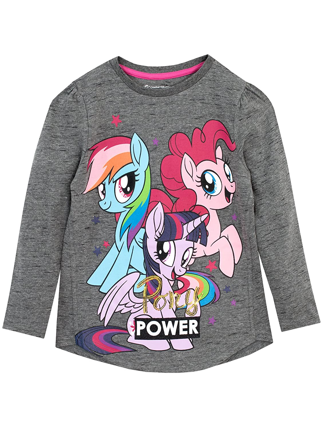 My Little Pony Girls' Twilight Sparkle Rainbow Dash Long Sleeved Top