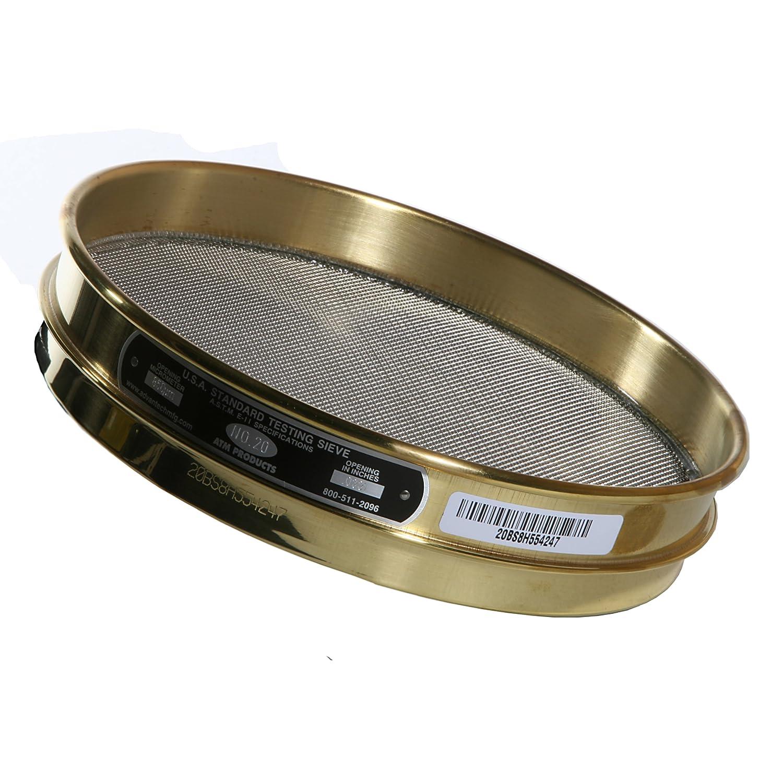 8 Diameter Advantech Brass Test Sieves Full Height 20 Mesh