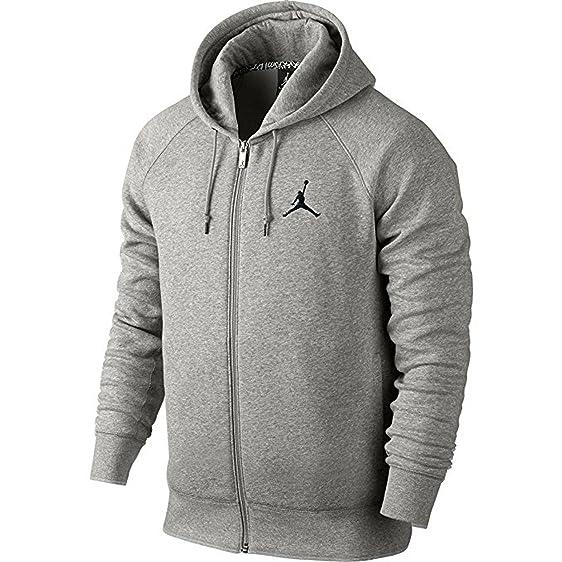 nike mens jordan jumpman brushed fz hooded sweatshirt