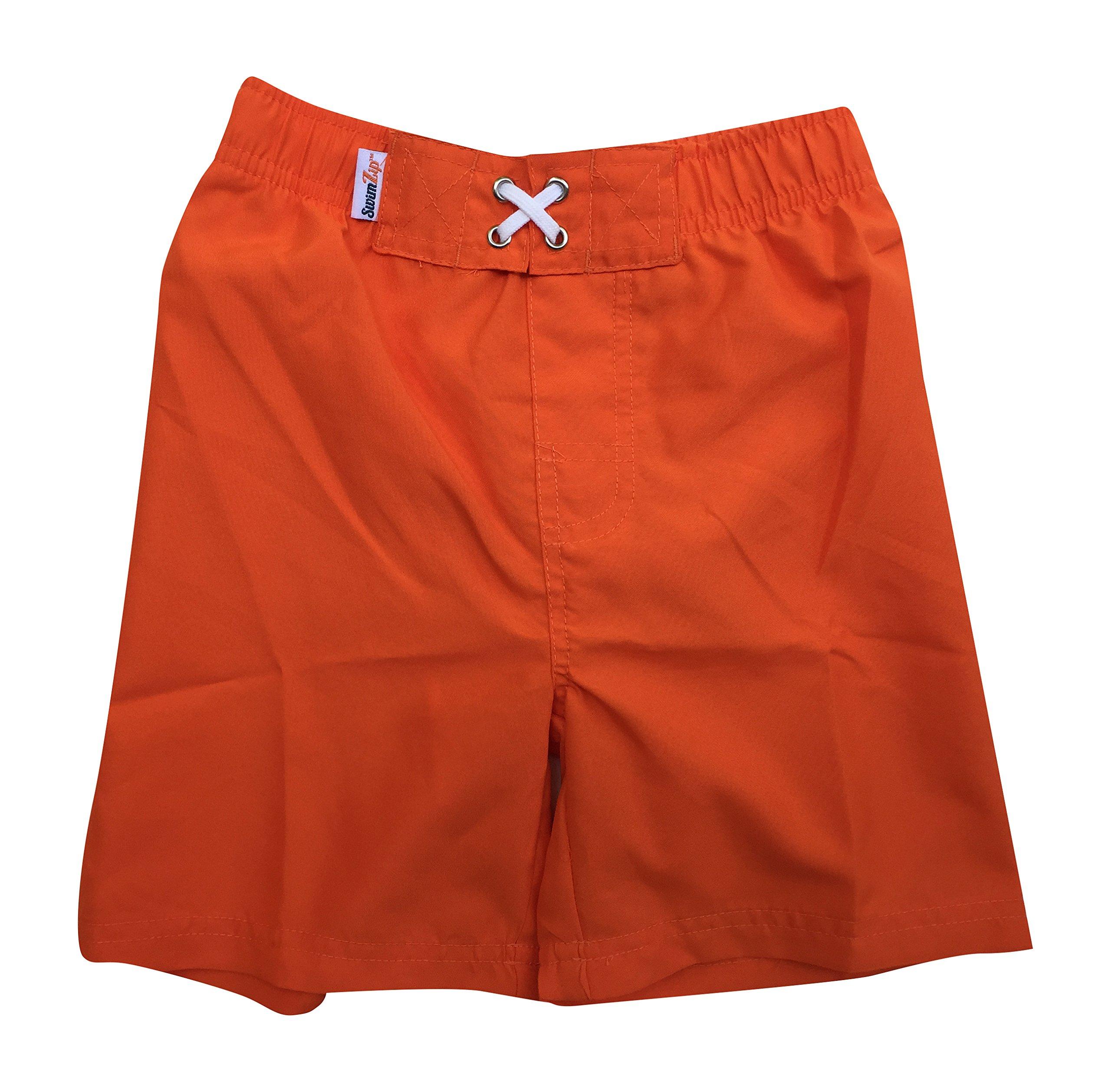 d1fae7c257 Galleon - SwimZip Little Boys' Swim Trunks With UPF 50+ UV Sun Protection,  Orang 0-3 Month