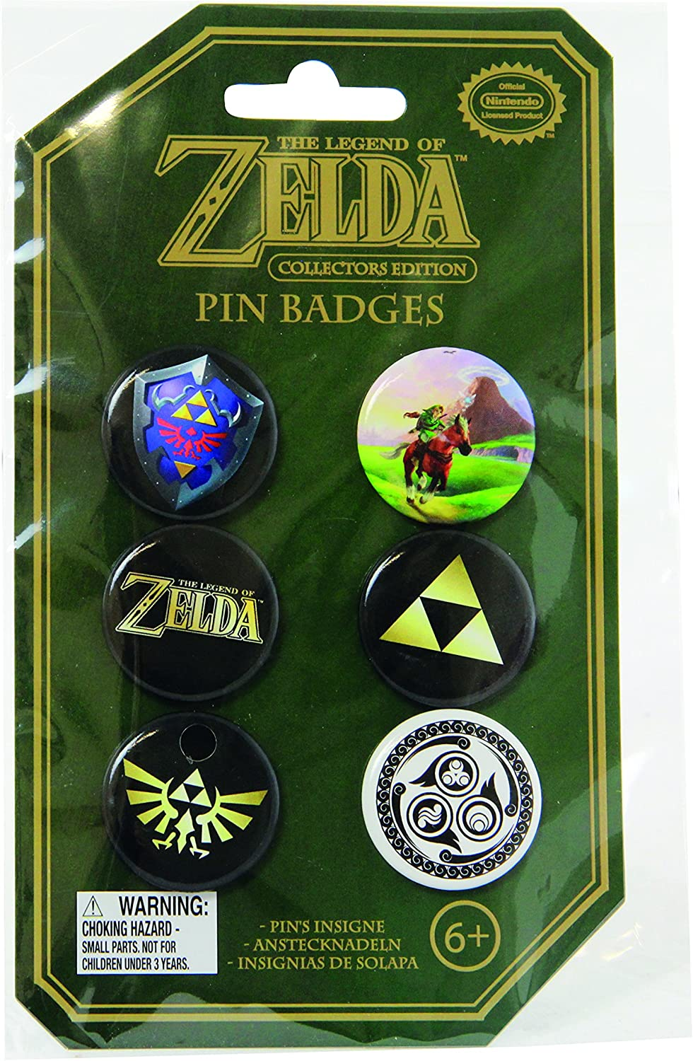 Paladone Nintendo Officially Licensed Merchandise - The Legend of Zelda Pin Badges: Toys & Games