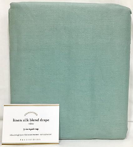 Amazon.com: Pottery Barn Blue Dawn Linen Silk Blend 108 ...