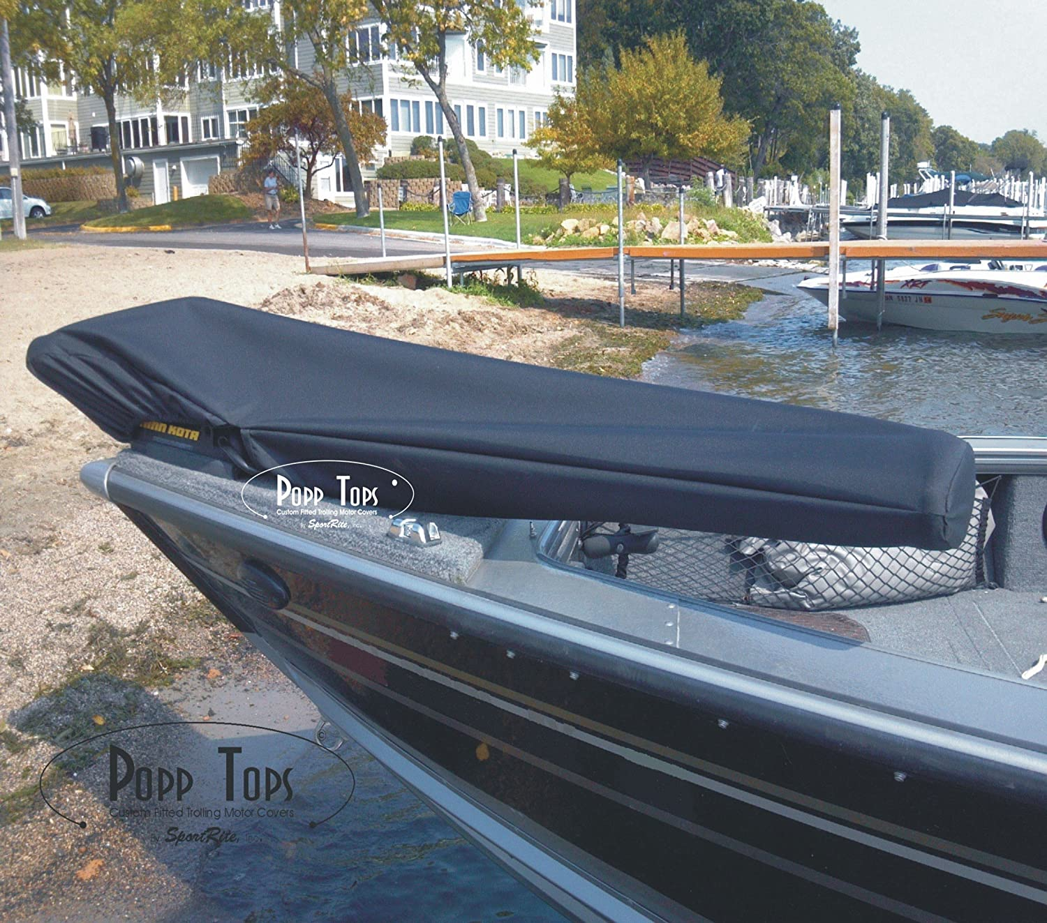 """GRAY MotorGuide Trolling Motor Cover  By PoppTops Fits Xi5  w//45/"""" Shaft"""