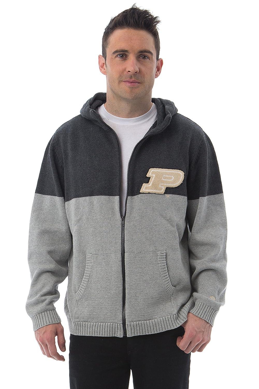 Dark Grey//Light Grey X-Large Alma Mater NCAA Purdue Boilermakers Mens Color Block Cardigan