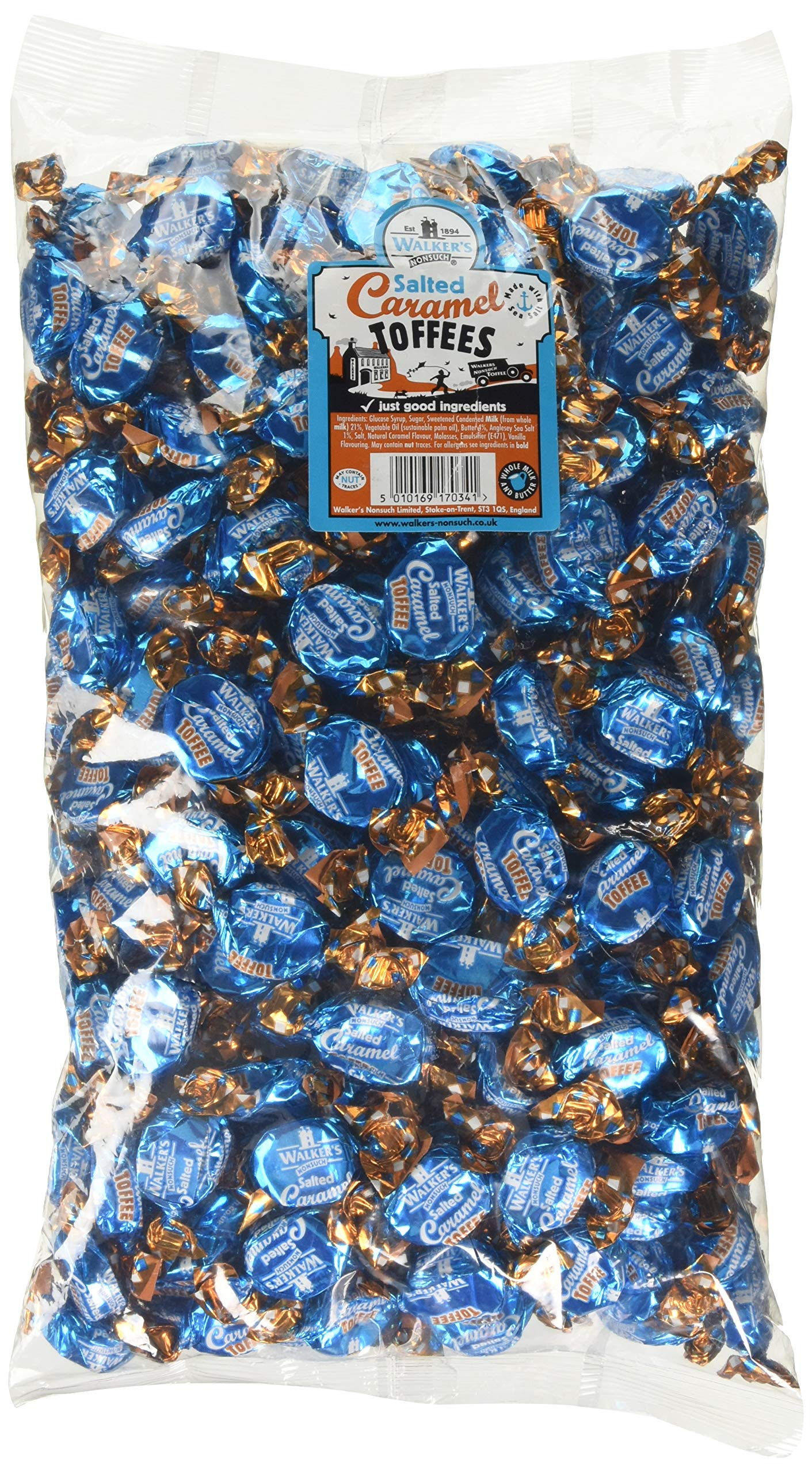 Walkers Nonsuch Salted Caramel Toffee 2.5kg Bag