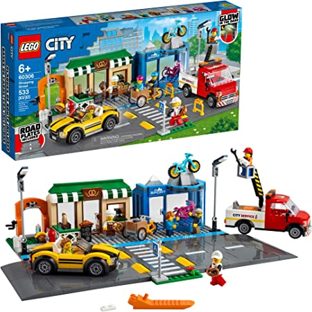 LEGO City Shopping Street 60306 Building Kit; Cool Building Toy for Kids, New 2021 (533 Pieces)