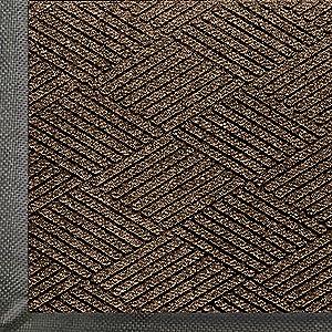 WaterHog Eco Premier | Commercial-Grade Entrance Mat with Diamond Pattern & Rubber Border | Indoor/Outdoor, Quick-Drying, Stain Resistant Door Mat (Chestnut Brown, 4x6)