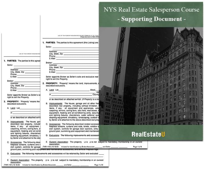 Amazon.com: 75-Hour New York State Real Estate Salesperson License ...