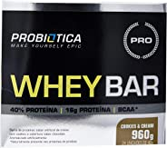 Whey Bar High Protein, Probiótica, Cookies & Cream, 40 g, 24 Unidades