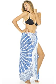 cff3c4bf75f23 Back From Bali Womens Sarong Beach Swimsuit Bikini Cover up Wrap Peacock    Clip