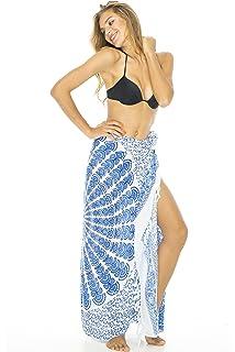 9c6cfc86cc Back From Bali Womens Sarong Beach Swimsuit Bikini Cover up Wrap Peacock    Clip