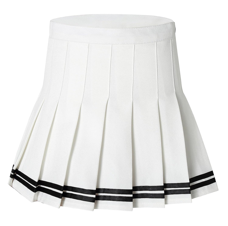 Tremour Women's High Waisted Pleated Mini Shorts Sport Skorts NHV7E5