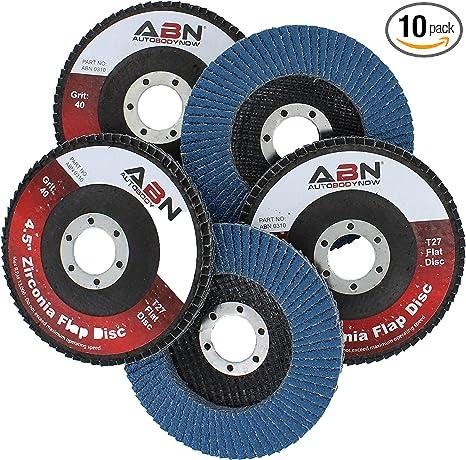 "20 Pack Flap Discs 4.5/"" X 7//8/"" Grinding Wheel T27 Flapper Wheel For Die Angle Gr"