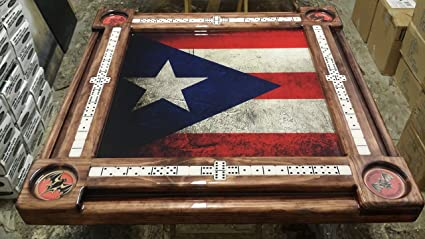 Puerto Rican Flag Bacardi Cup Holders By Domino Tables By Art