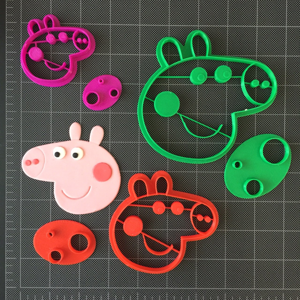 Peppa Pig Fondant Cutter / Cupcake Topper / Cookie Topper (2, 3 and 4'' set) by Fun Cutters (Image #1)