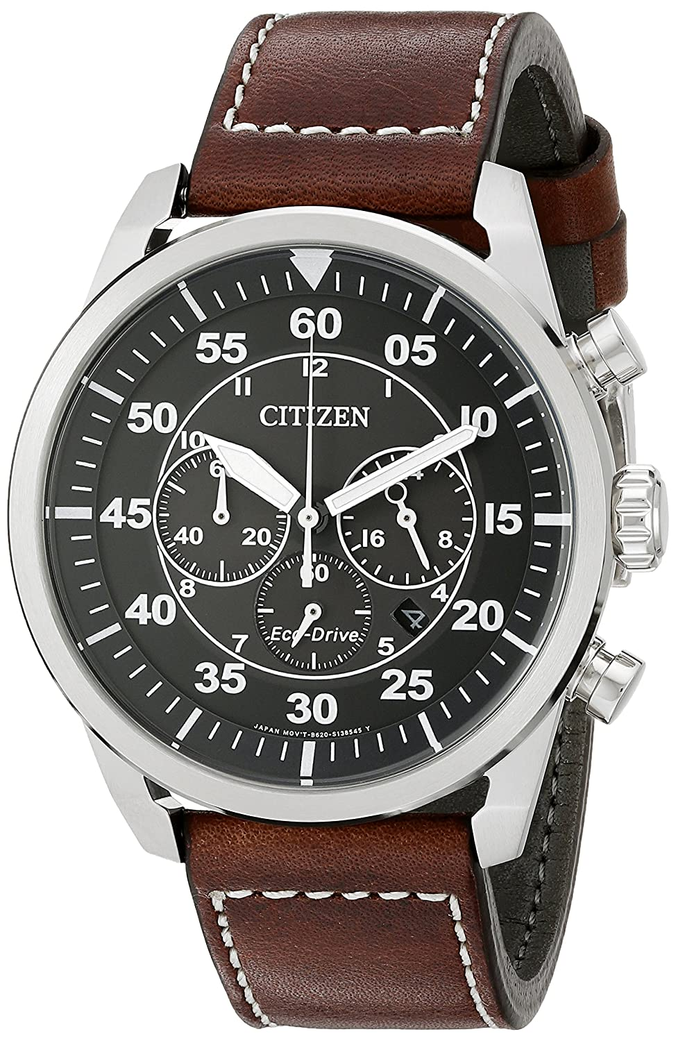 52eda171d9f Amazon.com  Citizen Men s Eco-Drive Stainless Steel Chronograph Watch with  Date
