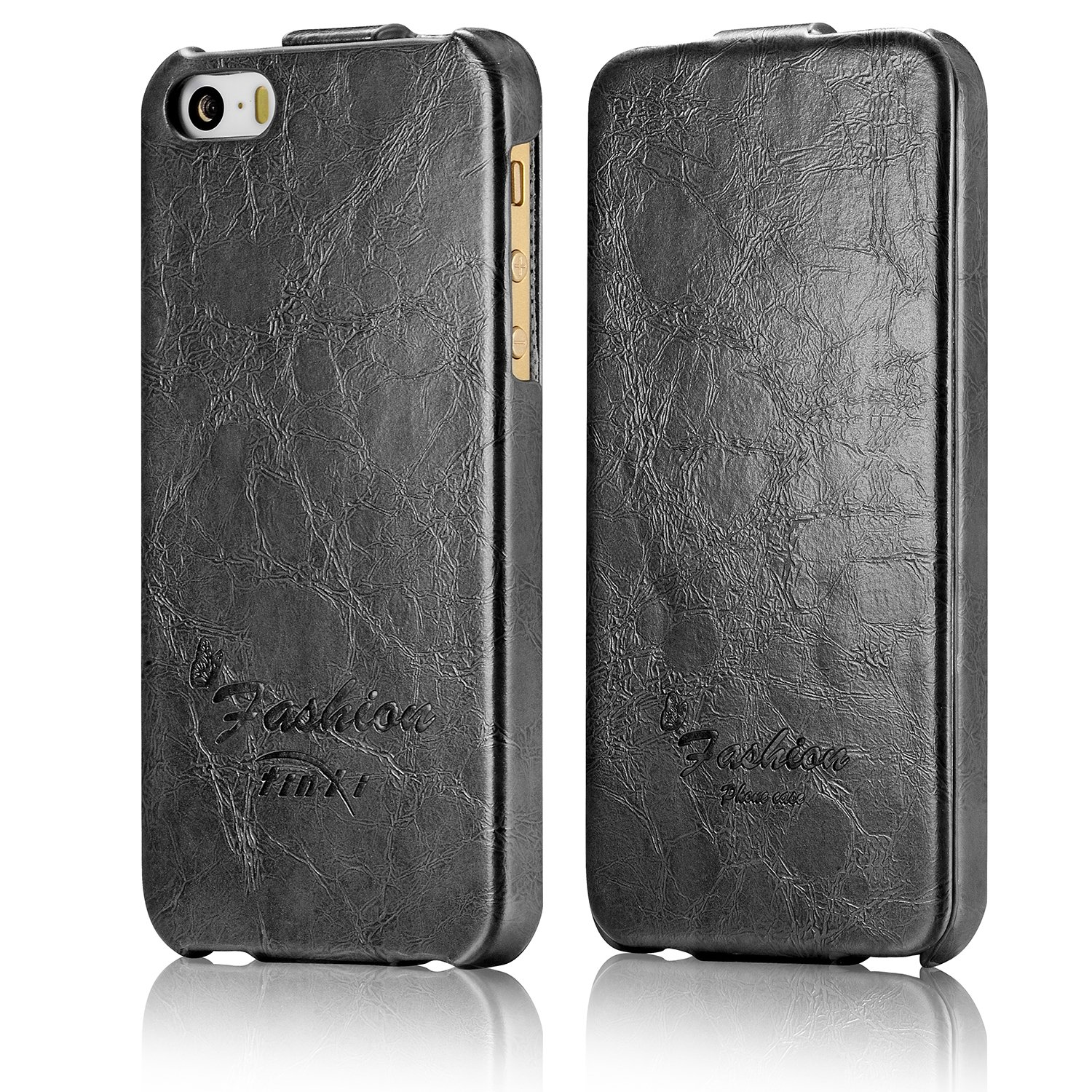 finest selection 56959 7924c Tinxi Flip-Up Down Case for iPhone 5/5S - Grey/Black