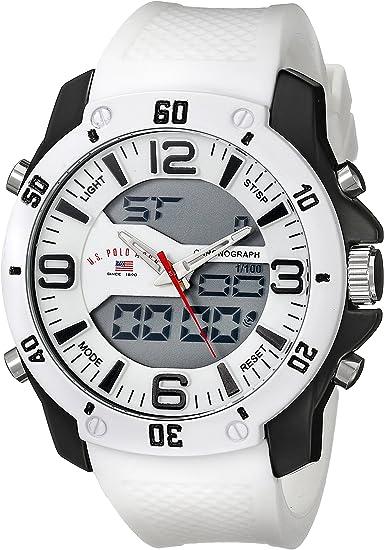U.S. Polo Assn. Sport Men's US9471 Analog-Digital White Watch